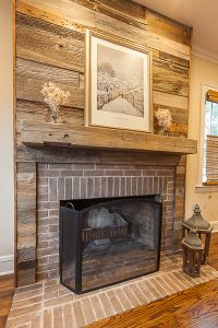 Reclaimed Barnwood Fireplace Surround And Mantel In Elmhurst