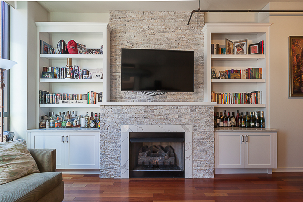 Contemporary Fireplace Cabinets And Bookcases In Chicago Illinois