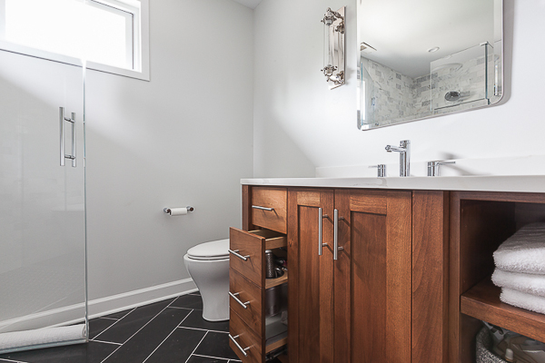 Bathroom Vanity Made From Kitchen Cabinets