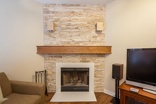 Mid Century Modern Fireplace Mantel In Chicago Illinois