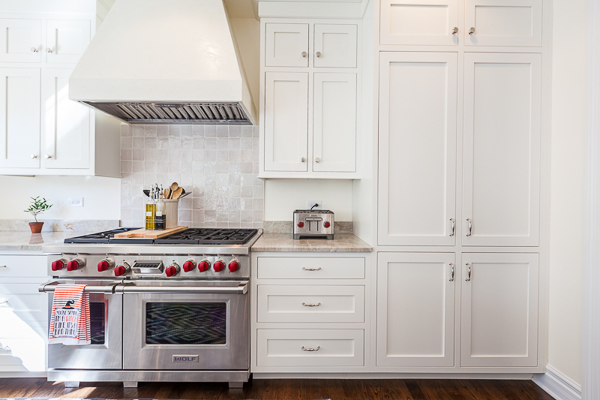 White and Gray Inset Kitchen Cabinets in Clarendon Hills ...