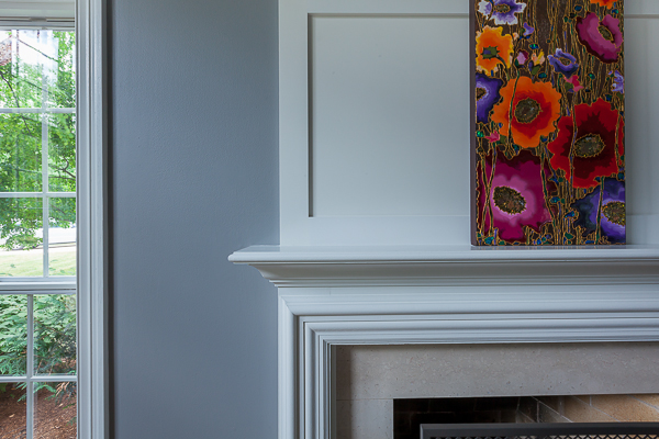 Wainscoting And Fireplace Surround In Barrington Illinois