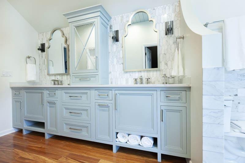 Master Bathroom Vanity In Naperville Illinois Wheatland Custom Cabinetry Woodwork