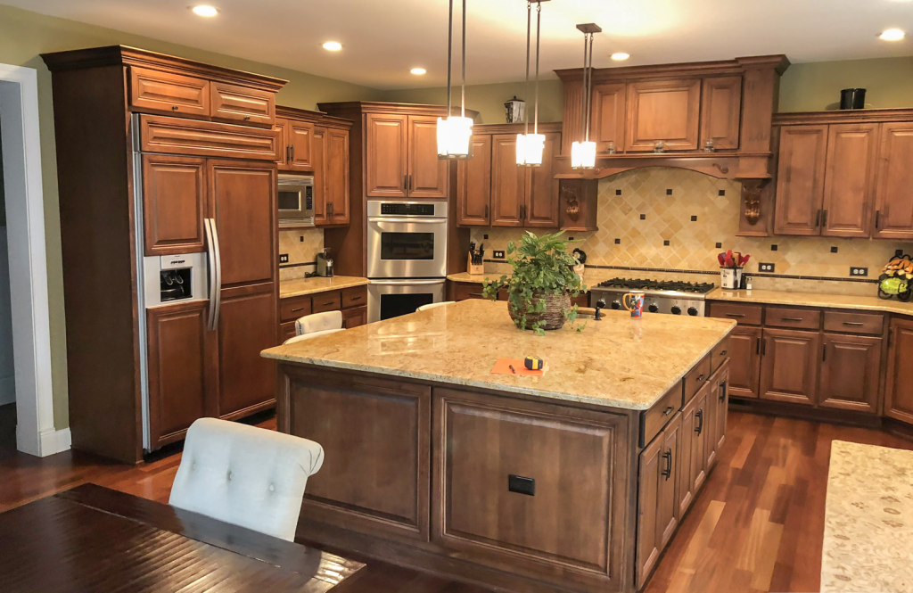 kitchen refinish and reface remodel in downers grove